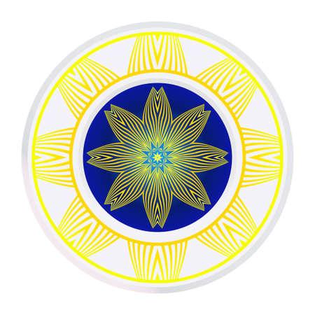 Mandala Ornament. Vector Illustration. For Wedding, Bridal, Valentines Day, Greeting Card Invitation. Oriental Pattern. Indian, Moroccan, Mystic, Ottoman Motifs. Anti-Stress Therapy Pattern.