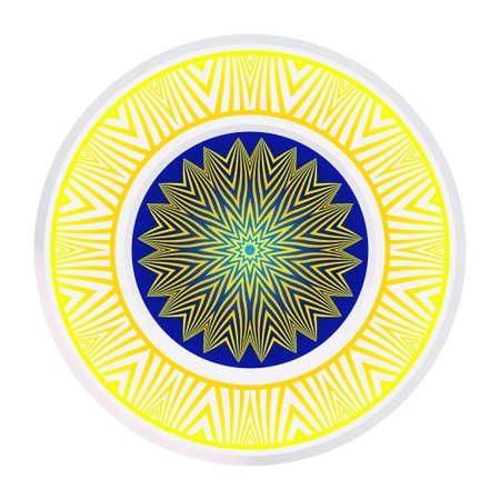 Round Ornament. Decorative Floral Pattern. Vector Illustration. For Interior Design, Printing, Wallpaper. Illustration