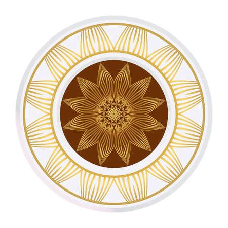 Mandala Pattern. Traditional Indian Mandala. Orient Tribal Circle Sign Illustration. Vector Illustration Stock Vector - 124925909