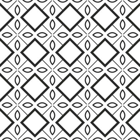 Seamless Geomteric Patterns. Vector Illustration. Hand Drawn Wrap Wallpaper, Cover Fabric, Cloth Textile Design. White grey color.  イラスト・ベクター素材