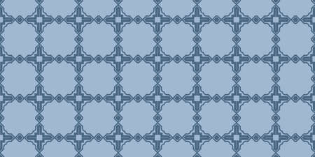 Modern Decorative Seamless Abstract Geometric Pattern. Vector Colored Illustration. Paper For Scrapbook. Pastel blue color.
