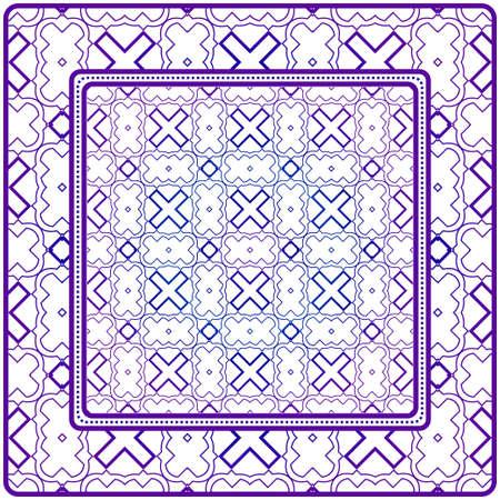 Geometric Pattern. Vector Illustration. For Fabric, Textile, Bandana, Scarg, Print. Purple gradient color.