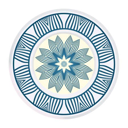 Fashion Print With Mandala Floral Ornament. Vector Illustration. Art Traditional, Islam, Arabic, Indian, Magazine, Elements With Mandala. Illustration