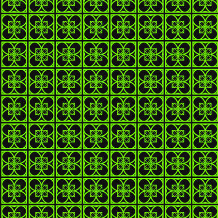 Art Deco Pattern Of Geometric Elements. Seamless Pattern. Vector Illustration. Design For Printing, Presentation, Textile Industry. green black color.  イラスト・ベクター素材