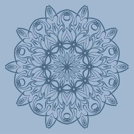 Decorative Round Lace Ornate Mandala. Vintage Vector Pattern For Print. Pastel color.