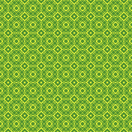 Unique, Abstract Geometric yellow green Color Pattern. Seamless Vector Illustration