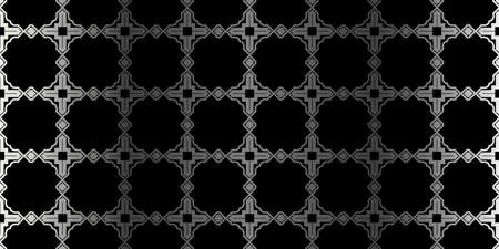Seamless Geometrical Texture. Vector Illustration. For Design, Wallpaper, Fashion, Print. Charcoal silver color. Çizim