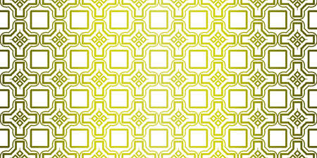Yellow gradient Color Seamless Lace Pattern With Abstract Geometric. Stylish Fashion Design Background For Invitation Card. Illustration Çizim