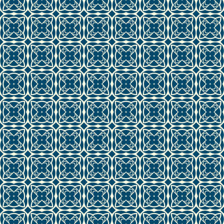 Abstract Vector Seamless Pattern With Abstract Geometric Style. Repeating Sample Figure And Line. For Fashion Interiors Design, Wallpaper, Textile Industry. Silver blue color.