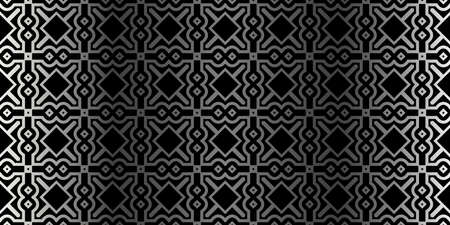 Modern Stylish Geometry Seamless Pattern Art Deco Background. Luxury Texture For Wallpaper, Invitation. Vector Illustration. Charcoal silver color.