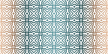 Geometric Pattern With Hand-Drawing Ornament. Vector Super Illustration. For Fabric, Textile, Bandana, Scarg, Colored Print. Brown green color.