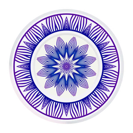 Traditional Ornamental Floral Mandala. Vector Illustration. For Coloring Book, Greeting Card, Invitation, Tattoo. Anti-Stress Therapy Pattern.