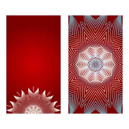 Bellissimo biglietto di auguri per il Festival Diwali. Illustrazione di vettore di sfondo. Celebrazione del festival in India. Colore rosso argento.