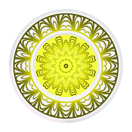 Abstract Vector Pattern With Floral Mandala. For Modern Interiors Design, Wallpaper, Textile Industry.