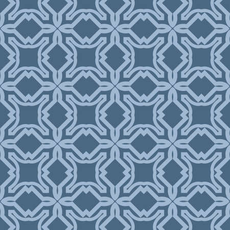 Seamless Line Geometric Pattern. Abstract Geometry Flower. Vector Illustration. Interior Decoration, Wallpaper, Presentation, Fashion Design . Pastel Blue Color.