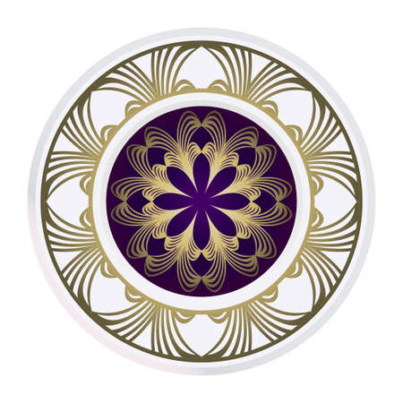 Decorative Floral Ornament. Vector Illustration. For Coloring Book, Greeting Card, Invitation, Tattoo. Anti-Stress Therapy Pattern.