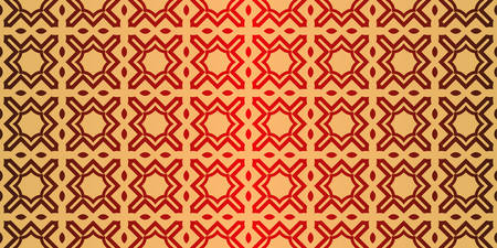 Geometric Pattern, Lace Geometric Ornament. Ethnic Ornament. Vector Illustration. For Greeting Cards, Invitations, Cover Book, Fabric, Scrapbooks. Sunrise red color. Illustration