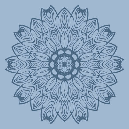 Decorative Round Lace Ornate Mandala. Vintage Vector Pattern For Print. Pastel color.