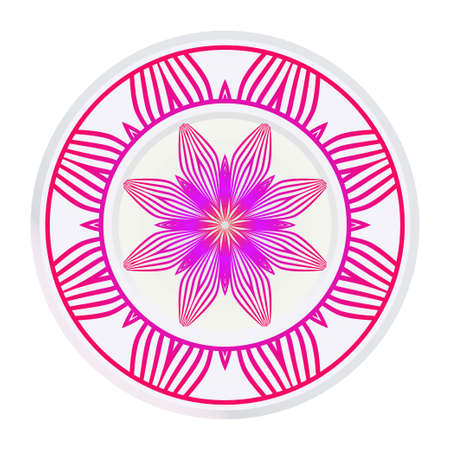 Floral Mandala. Vector Illustration. Repeating Sample Figure And Line. For Fashion Interiors Design, Wallpaper, Textile Industry. Anti-Stress Therapy Pattern.