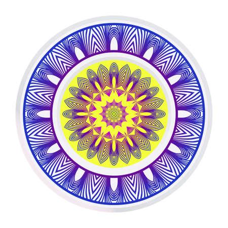 Traditional Ornamental Floral Mandala. Vector Illustration. For Modern Interiors Design, Wallpaper, Textile Industry.