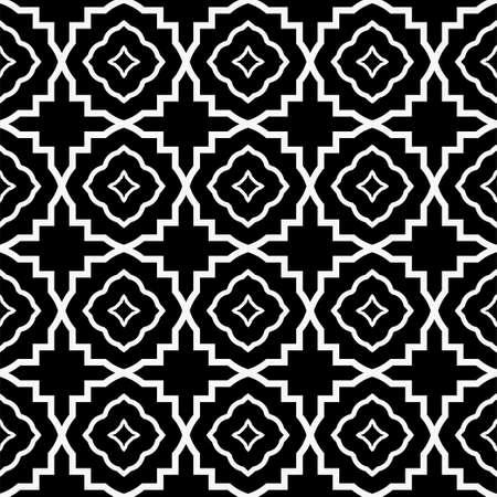 Seamless Pattern With Geometric, Triangle, Zig Zag. Vector Background, Texture. For Design Invitation, Interior Wallpaper, Cover Card, Technologic Design. Black white color.