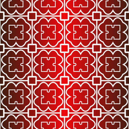Seamless Modern Pattern. Art-Deco Geometric Background. Graphic Design. Vector Illustration. Idea for your presentation. wallpaper, page, advert. Red white color. 일러스트