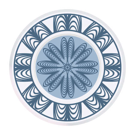 Ornamental Round Lace. Sacred Oriental Mandala. Color Floral Ornament. Modern Decorative Vector Illustration.