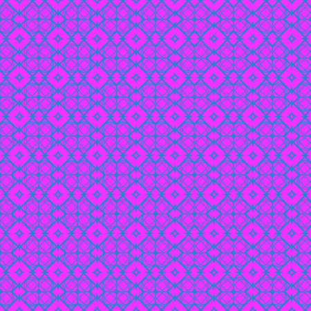 Vector Illustration. Pattern With Geometric Ornament, Decorative Border. Design For Print Fabric. Purple blue color.