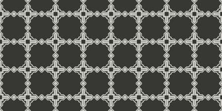 Art Deco Pattern Of Geometric Elements. Seamless Pattern. Vector Illustration. Design For Printing, Presentation, Textile Industry. Grey charcoal color.