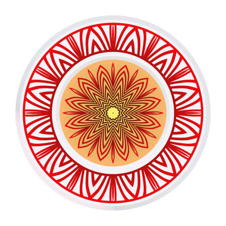 Beau mandala. Ornement rond floral. Illustration vectorielle. Pour la conception d'intérieurs modernes, le papier peint, l'industrie textile.