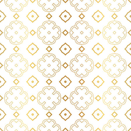 Modern Luxury Geometric Seamless Pattern. Vector Illustration. For Book Design, Background. Vector Illustration. Golden gradient.