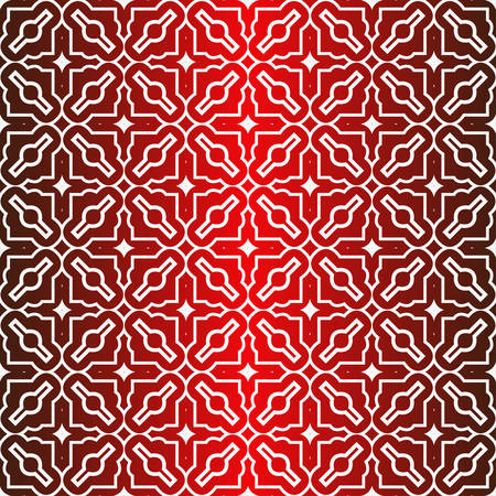 Seamless Modern Pattern. Art-Deco Geometric Background. Graphic Design. Vector Illustration. Idea for your presentation. wallpaper, page, advert. Red white color. 矢量图像