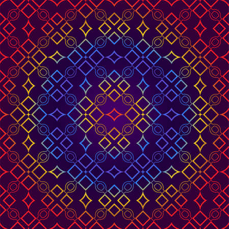 Retro Seamless Pattern. Geometric, Triangle, Zig Zag. For Wallpaper, Fabric, Scrapbooking Design, Textures. Vector Illustration. Red blue gradient color. 向量圖像