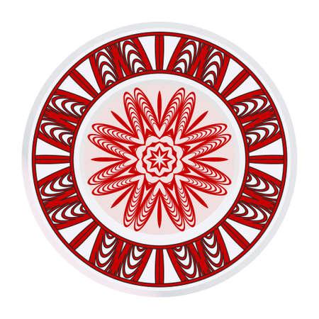 Beautiful Round Flower Mandala. Vector Illustration. For Coloring Book, Greeting Card, Invitation, Tattoo.
