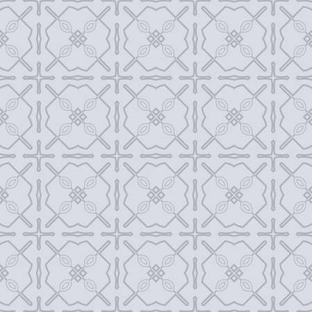 Seamless Geometrical Linear Texture. Original Geometrical Puzzle. Backdrop. Vector Illustration. For Design, Wallpaper, Fashion, Print. gREY COLOR. 矢量图像