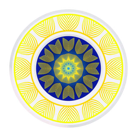 Round Ornament. Decorative Floral Pattern. Vector Illustration. For Interior Design, Printing, Wallpaper. Ilustração