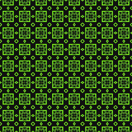 Seamless Modern Pattern. Art-Deco Geometric Background. Graphic Design. Vector Illustration. Green black color.