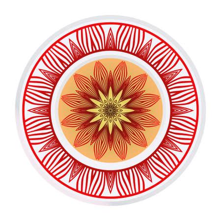 Beautiful Floral Mandala. Art Traditional, Islam, Arabic, Indian, Magazine, Elements With Mandala. Vector Illustration.