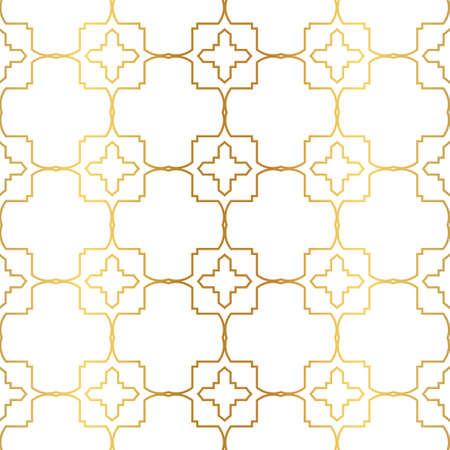 Modern Luxury Geometric Seamless Pattern. Vector Illustration. For Book Design, Background. Vector Illustration. Golden gradient.