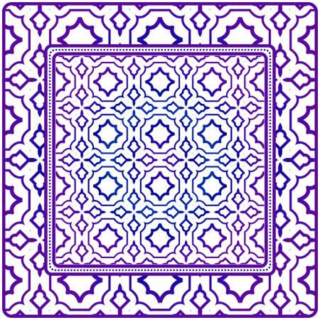 Geometric Pattern. Vector Illustration. Design For Wallpaper, Flyer, Book, Brochure. Purple gradient color.