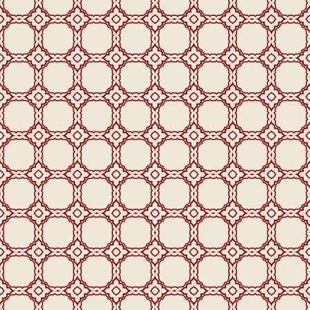 Vector Seamless Pattern With Abstract Geometric Style. Repeating Sample Figure And Line. Paper For Scrapbook, wrapping, background. Red rose color.