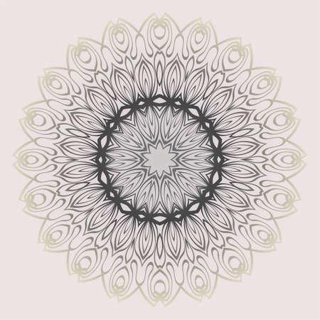 Ethnic, Colorful Henna Mandala Design. Ornament Round Concept. Vector Decorative Illustration Design. Pastel gradient. Ilustração