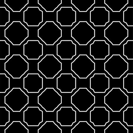 Seamless Pattern With Geometric, Triangle, Zig Zag. Vector Background, Texture. For Design Invitation, Interior Wallpaper, Cover Card, Technologic Design. Black white color. 向量圖像