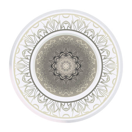 Decorative Ornament With Mandala. Home Decor Background. Vector Illustration. For Coloring Book, Greeting Card, Invitation, Tattoo. Anti-Stress Therapy Pattern