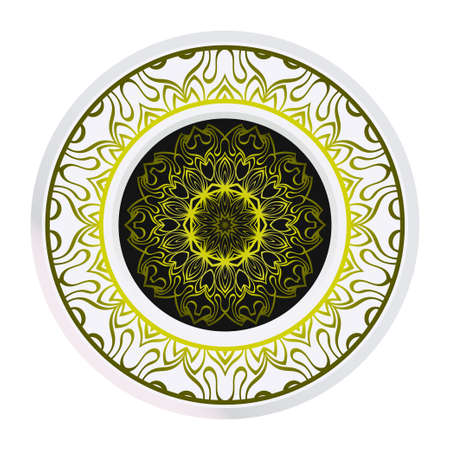 Decorative Mandala. Vector Illustration. Isolated. Tribal Ethnic Ornament With Mandala. Anti-Stress Therapy Pattern. Indian, Moroccan, Mystic, Ottoman Motifs