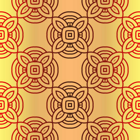Seamless Geometrical Linear Texture. Original Geometrical Puzzle. Backdrop. Vector Illustration. For Design, Wallpaper, Fashion, Print