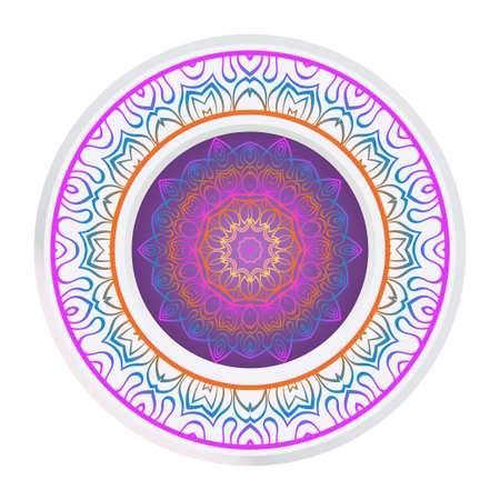 Sacred Oriental Mandala. Floral Ornament. Vector Illustration. Can Be Used For Greeting Card, Coloring Book, Phone Case Print Illustration