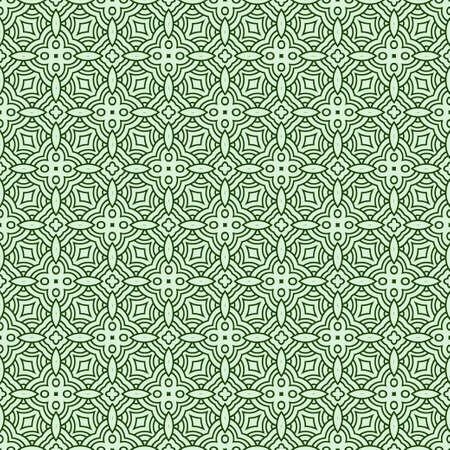 Vector Illustration. Pattern With Geometric Ornament, Decorative Border. Design For Print Fabric. Vettoriali