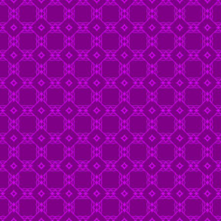 Abstract Repeat Backdrop With Lace Geometric Ornament. Vector illustration. Purple color. 向量圖像