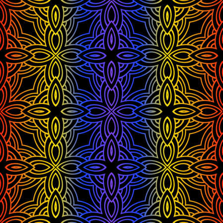 Unique, Abstract Geometric Color Pattern. Seamless Vector Illustration. For Fantastic Design, Wallpaper, Background, Fantastic Print